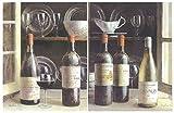 Cuadro Madera Vino Tinto, Blanco/vinoteca. Set de 2 Unidades de 19 cm x 25 cm x 4 mm Adhesivo FÁCIL COLGADO. Adorno Decorativo Pared Ideal para Hogar/Cocina/Cafetería/Regalo