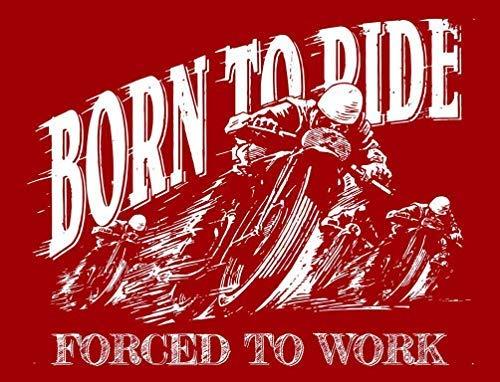 qidushop Wandschild mit Aufschrift Born to Ride Motorbike Biker im Vintage-Stil