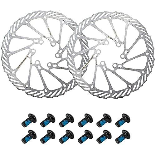 CYSJ Disco de Freno 2pcs 160 mm Rotor de Freno de Disco de Bicicleta de Acero InoxidableRotor Flotante para Bicicleta de Carretera, Bicicleta de montaña, MTB