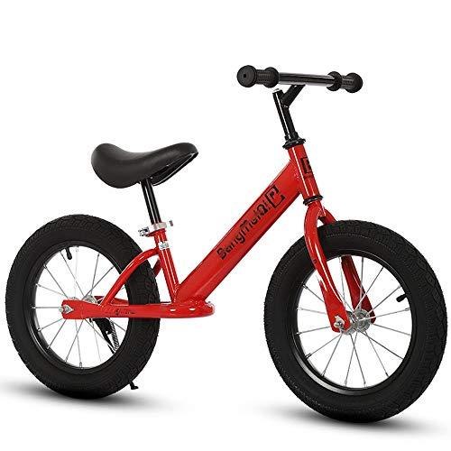 LJHSS Patinete De Equilibrio for Niños De 3 A 6 Años, Andador De Dos Ruedas De 14 Pulgadas, Patinete for Niños Sin Pedal for Niños Y Niñas (Color : Red)