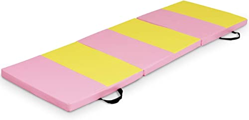 wholesale Giantex 6'x2'x2'' Tri-Fold Gymnastics Mat with Carry Handles Tumbling Exercise outlet sale Gym Mat for Aerobics, popular Yoga, Stretching, MMA online
