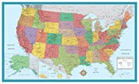 48x78 Huge United States, USA Classic Elite Wall Map Laminated