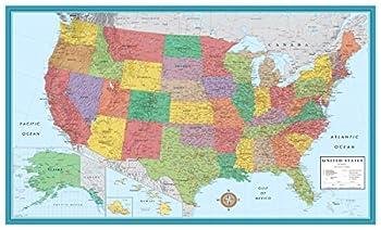 48x78 Huge United States USA Classic Elite Wall Map Laminated