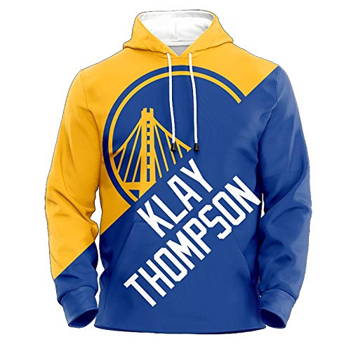 Klay Thompson No.11 Golden State Warriors Couples Basketball Hoodie Unisex Pop Long Sleeve Pullover Sweatshirt (Color : A, Size : L)