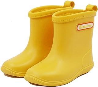 Bottes de Pluie Enfant Chaussures de Pluie Souples et Durables en PVC, Imperméable, Antidérapant pour Garçons et Filles