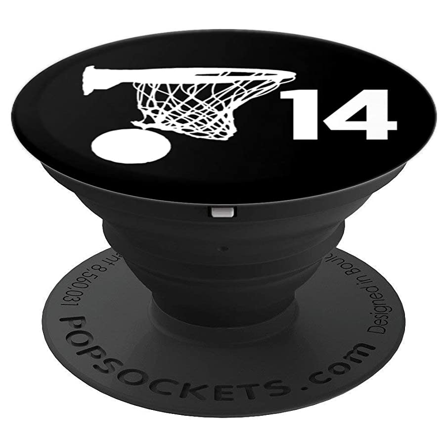 Number 14 , Basketball Gifts for Men, Boys, Teens, Women, - PopSockets Grip and Stand for Phones and Tablets