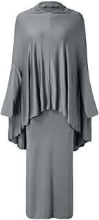 Sunyastor Muslim Islamic Girl's Abayas and Jilbabs Full Length Dresses + Hijab Two-Piece Prayer Dress Abaya Set Hajj Dress