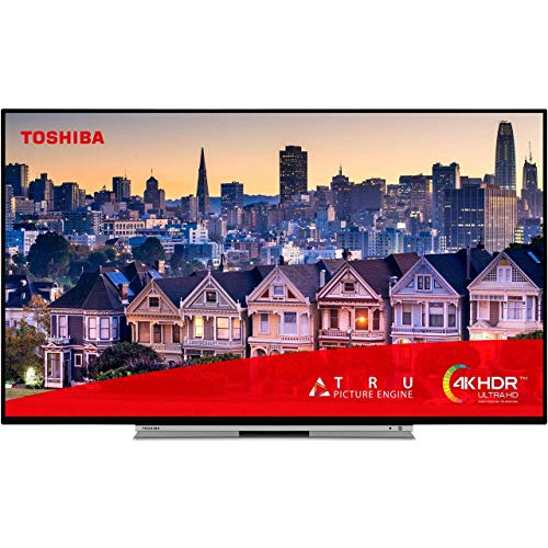 Toshiba 55UL5A63DB 55-Inch Smart 4K Ultra-HD HDR LED WiFi TV with Freeview Play- Black/Silver (2019 Model)