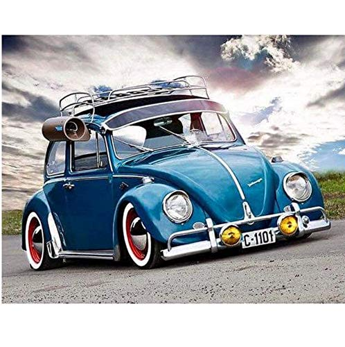 CYKEJISD Puzzle 1000 Teile DIY Blaues Auto Dekor Geschenk Klassisches Puzzle Holzspielzeug Einzigartiges Geschenk Wohnkultur