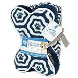 AKC Paw Print Pet Blanket & Pillow Gift Set, 2 PC, Blue