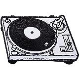 Parche para tocadiscos de DJ Deck bordado, para coser o planchar, para reproductor de discos