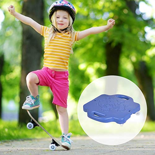 Patinete con asas de plástico para suelo con ruedas para niños de 6 a 12 años, 40 x 42 cm