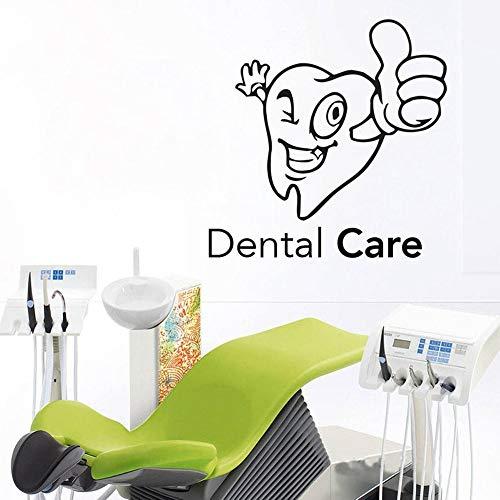 Calcomanía de pared de cuidado Dental, pegatina de pared artística, vinilo decorativo, Mural, decoración de habitación, dientes, clínica Dental Dental