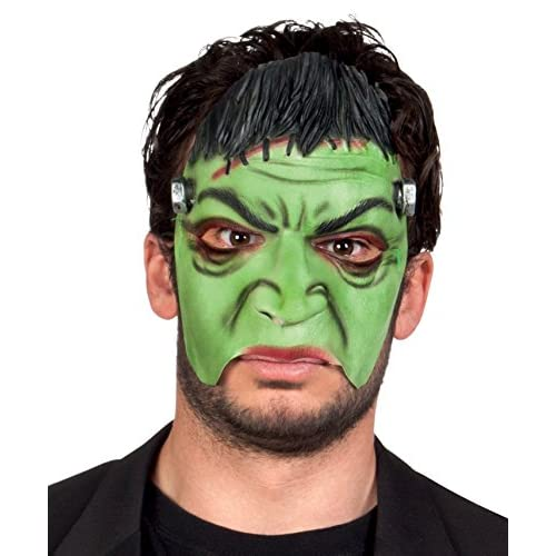 Boland- Maschera Mezzo-Viso Frankenstein Monster in Lattice per Adulti, Verde, Taglia Unica, 74576
