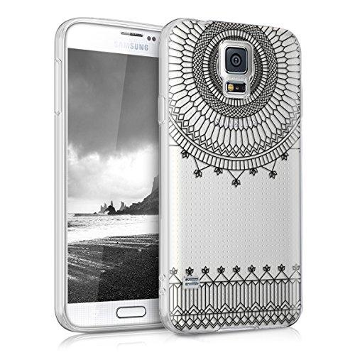 kwmobile Hülle kompatibel mit Samsung Galaxy S5 / S5 Neo - Hülle Handy - Handyhülle - Cathedral Schwarz Transparent