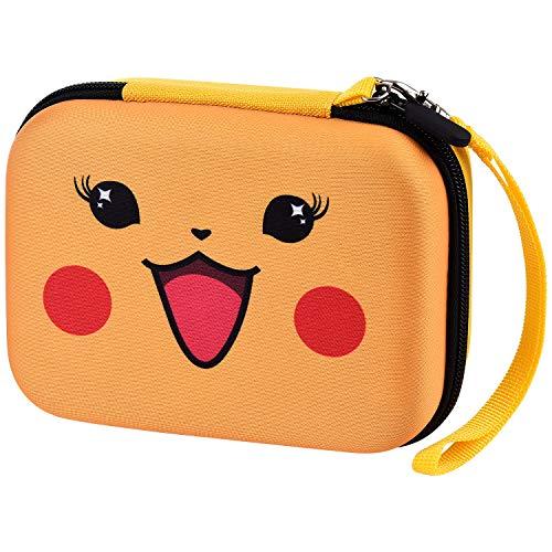 Sammelkarten-Aufbewahrungsboxen - 400+ Karten Tasche Box für Pokemon Karten Sammelkarten. Card Game Tragetasche mit Trageschlaufe - Bikachu