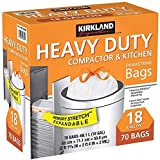 KIRKLAND SIGNATURE Compactor Kitchen Trash Bag with Gripping Drawstring Secure Full Size, New...