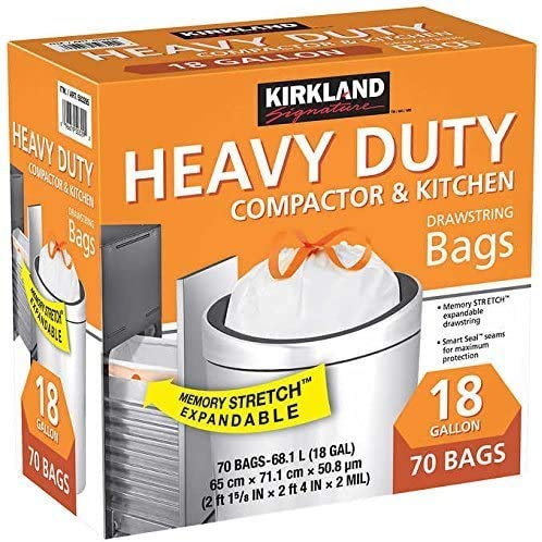 KIRKLAND SIGNATURE Compactor Kitchen Trash Bag with Gripping...