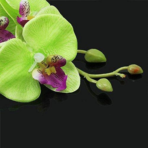 Ecloud Shop® Jolie fleur party girl épingle MARIÉE plage hawaïenne Green Light