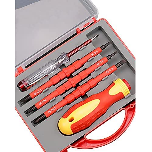 iSpchen Multifuncionales Juego de destornilladores de Precisión, Juego de destornilladores de Raqueta, Juego de Puntas de destornillador Pequeño Para Teléfono Portátil Tipo 3