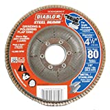 Diablo 4-1/2 in. 80-Grit Steel Demon Grinding and Polishing Flap Disc with Type 29 Conical Design (5-Pack)