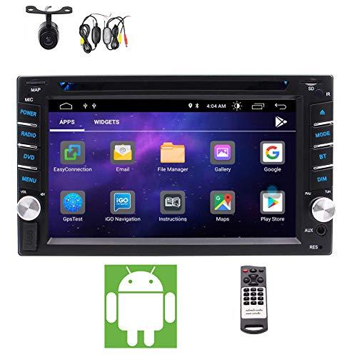 EINCAR Bluetooth Autoradio Doppio DIN Setreo 6.2 Pollici Touch Screen Autoradio Android 10.0 1 GB + 16 GB Navigazione GPS in Dash 1080P Lettore multimediale Video Autoradio WiFi SWC OBD2 USB SD 4G