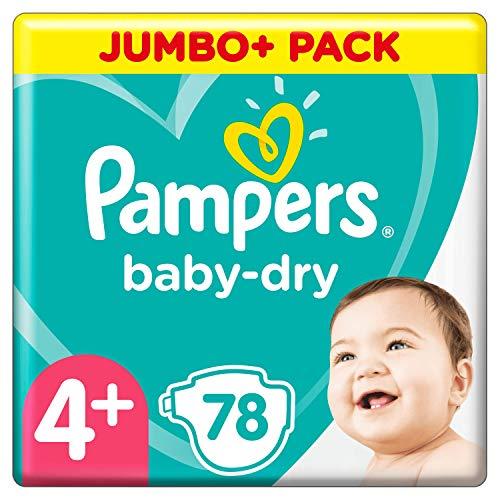 Pampers Baby-Dry Gr. 4+ 78 Windeln bis 12 Stunden Schutz 10-15 kg