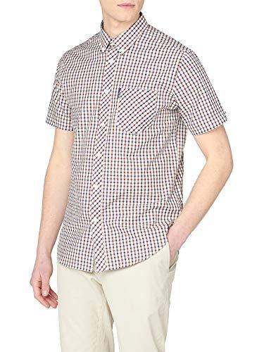 Ben Sherman SS Signature House Check Camisa, Rojo (Red 550), Small para Hombre