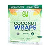 NUCO Certified ORGANIC Paleo Vegan Gluten & Grain Free Moringa Coconut Wraps, 5Count (One Pack of Five Wraps), Original Version, 2.47 Ounce