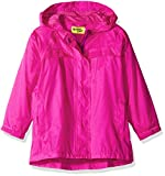 Western Chief unisex child Easy Zip-up Lined Rain Jacket, Solid Pink, 5 US