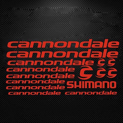 CECILIAPATER Cannondale Fahrrad-Rahmenaufkleber, Shimano Fox MTB DH Radfahren Road Ride Decals Racing Bike Rahmen Cut Aufkleber Vinyl DIY