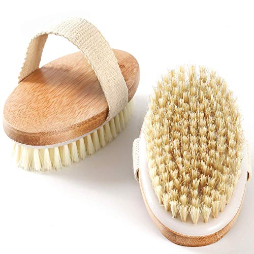 Rustic Rituals, Wooden Bath Brush for Dry brushing | Wet and Dry Bath Brush for Cellulite and Lymphatic, Suitable for all skin types