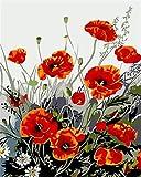 Vfvozr Pintura al óleo de Bricolaje Kit de Planta Pintura Digital para Adultos de Cuatro Estaciones Arte 40x50cm Sin Marco
