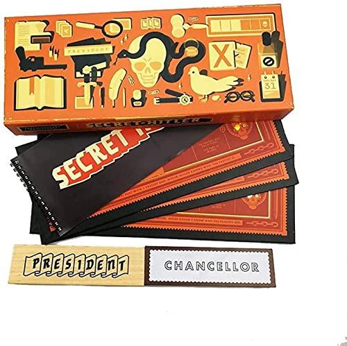CHYOOO Juego de Cartas secretas de Hitler Board, Juego de rol Escondido Que el Mundo para la Fiesta ha Visto Alguna Vez, Halloween, Juegos al Aire Libre Jugando a Las Cartas(Rojo)