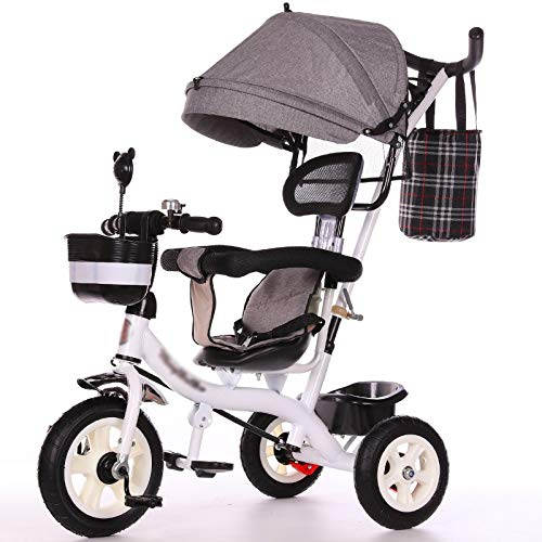 Review LQRYJDZ Baby Carriage Lightweight Children's Tricycle Boys and Girls Bicycles Baby Stroller w...