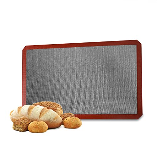 Glitz Star Silicone Bread Baking Mat Non Stick Oven Liner Perforated Steaming Mesh Pad For Full Size Cooking Sheet,22.4X14.6inch