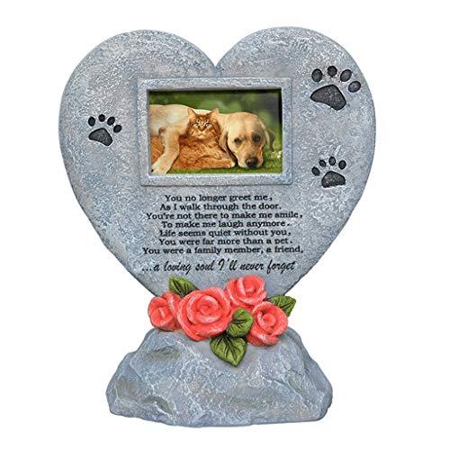 LQW HOME Memorial de Mascotas Pet Memorial Piedra, Tombstone Memorial de la Pata del Gato del Perro casero de impresión del Recuerdo, del Perrito de Tombstone Lápida