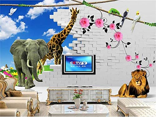 Abihua Wandbilder Benutzerdefinierte Mural Foto 3D Wallpaper Kinderzimmer 3D Malerei Sofa Tv Hintergrundbild Für Die Wand 3D 220Cm X 140Cm