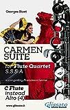 'Carmen' Suite for Flute Quartet (C Flute instead Alto) ('Carmen' Suite - Flute Quartet Book 5) (English Edition)