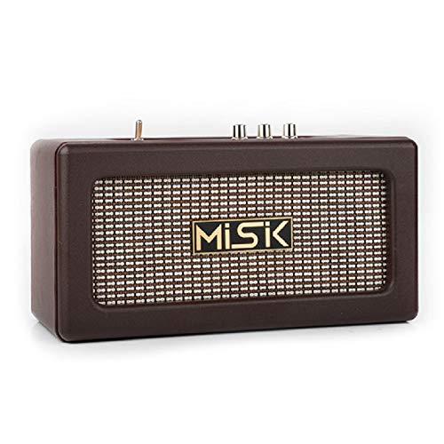 Misik Bocina Ms232 Café Retro Batería Recargable Bluetooth
