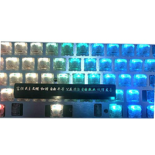 キーキャップ メカニカルキーボードキャップ メカニカルゲーミングキーボード用キーキャッププロファイルを介しノベルティABS 1.5ミリメートル厚さ6.25スペースバーキーキャップ磨き PCアクセサリ (Axis Body : 3 pcs randomly, Color : Kit 3)