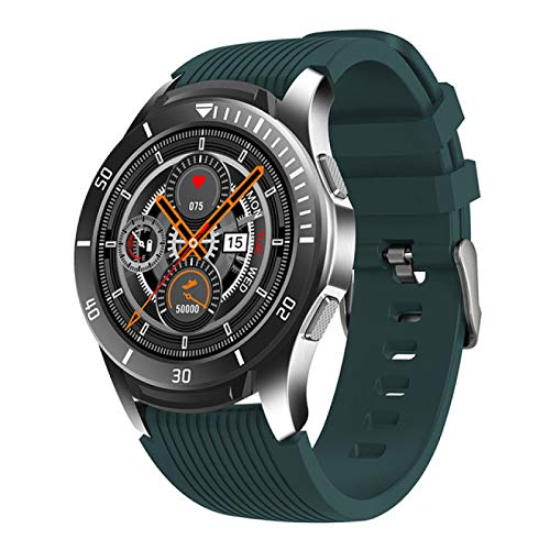 Leisont - Smartwatch Hombres Pantalla táctil Completa Multi-función Deportes Reloj Inteligente Impermeable Fitness Verde.