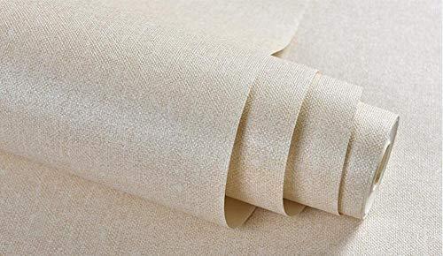 3D-Tapete horizontale graue Streifen Tapete Mode Tapeten Wall Decor PVC-Rolle für Wohnzimmer Creme 5,3 ㎡