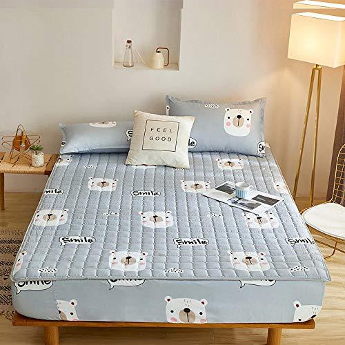 HPPSLT Protector de colchón - Protector de colchón antialérgico Sábana Gruesa Impermeable de una Sola pieza-13_90cm × 200cm