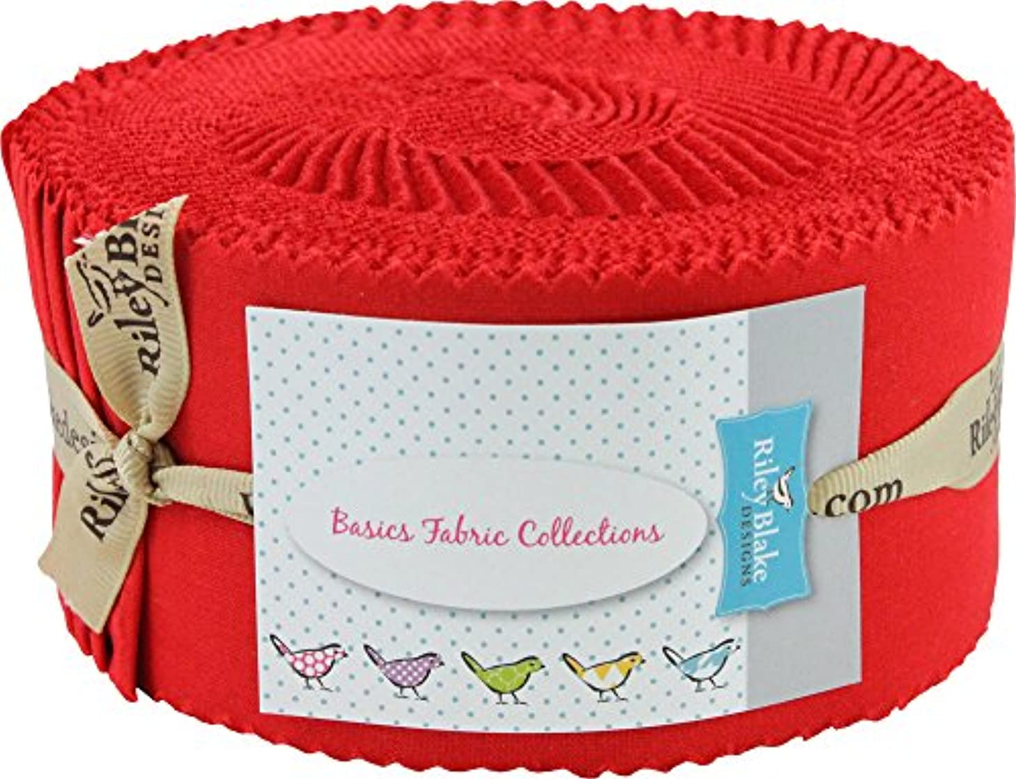 Confetti Cottons Tomato Rolie Polie 40 2.5-inch Strips Jelly Roll Riley Blake RP-120-TOMATO-40
