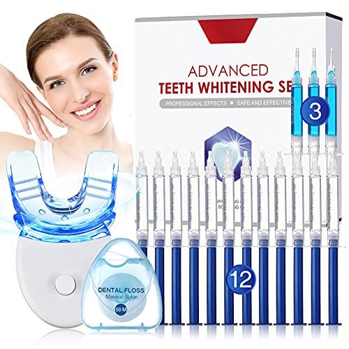 Blanqueador de Dientes-Kit Blanqueador Dental Profesional, Blanqueamiento Dental con 12 * Gel Blanqueamiento,3 * Gel Calmante-Blanquear Dient
