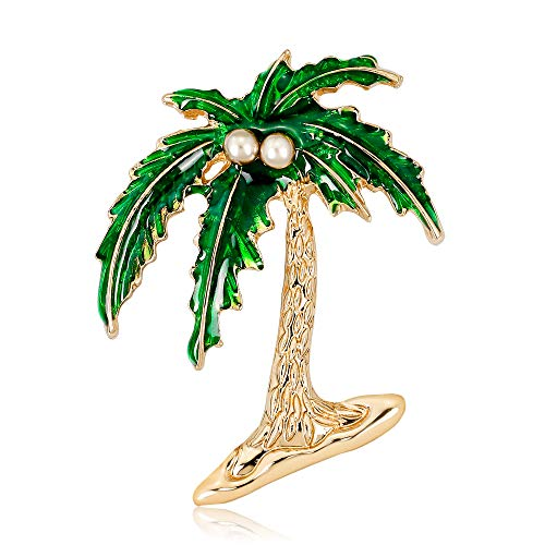 YAZILIND Elegant Coconut Palm Tree Broche Pin Ramillete Mujeres Accesorios