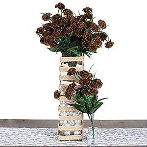 BalsaCircle 252 15 Colors Mini Silk Carnations – 12 Bushes – Artificial Flowers Wedding Party Centerpieces Arrangements Bouquets Supplies