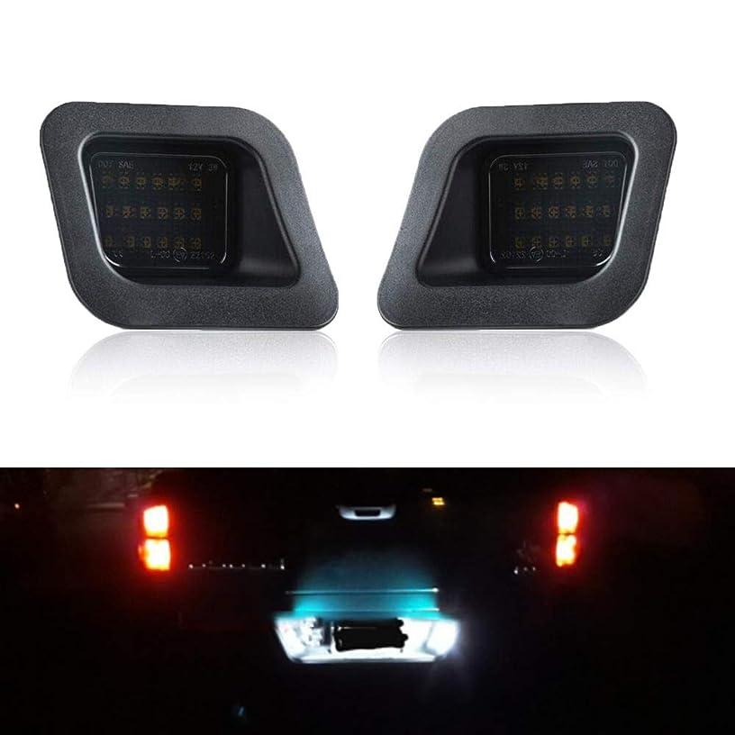 Gempro LED License Plate Light Lamp Assembly Replacement For 2003-2018 Dodge RAM 1500 2500 3500 Pickup Truck, 6000K Xenon White LED Lights