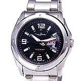 メンズ防水スチールストラップクォーツウォッチ(パーティーギフトアクセサリー)(腕時計)
